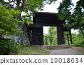 kameyama park, echizen ono castle, castle gate 19018634