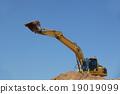 excavator in action 19019099