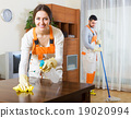Professional cleaners with equipment 19020994
