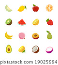 Fruit full color flat design vector icon.  19025994
