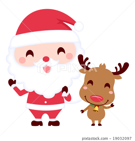 圣诞老人驯鹿角色 19032097
