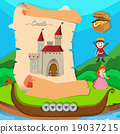 Fairytale theme with castle and characters 19037215