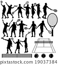 Tennis Silhouette Vector 19037384