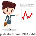 Business woman character skirt suit 19045560