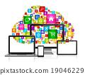 Cloud computing concept 19046229