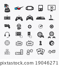 game icons set. illustration eps10 19046271