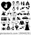 Wedding icons set. illustration eps10 19046291