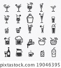 Cocktail icons set. illustration eps10 19046395
