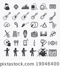 Music Icons set 2. illustration eps10 19046400