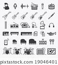 Music Icons set 1. illustration eps10 19046401
