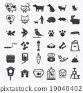 Pet icons set. illustration eps10 19046402