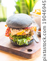 Hamburger with black bread 19046945