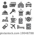 Hotel Icons Set 19048788