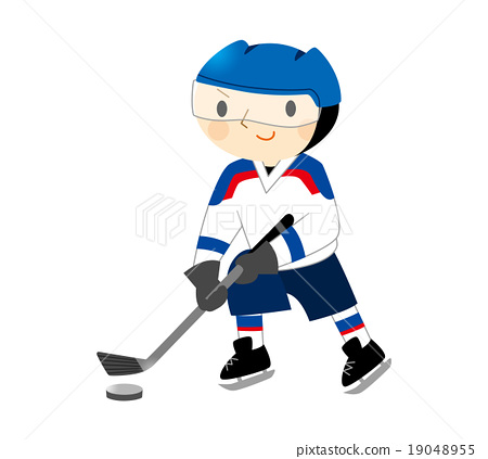 Stock Illustration: ice hockey, ice-hockey, hockey