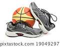 running shoes and ball 19049297
