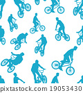 Seamless ride bicycle pattern background vector 19053430