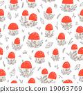 Mushroom houses pattern 19063769