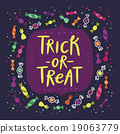 Trick or treat candy card 19063779
