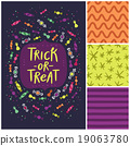 Trick or treat card and patterns 19063780