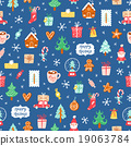 Winter holidays symbols repeat pattern 19063784