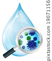 Bacteria water drop concept 19071156
