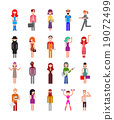 people, vector, icon 19072499