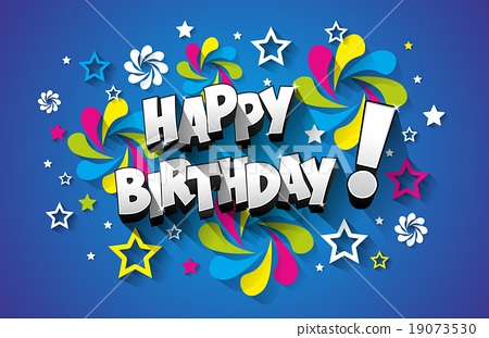 Happy birthday greeting card on background vector stock happy birthday greeting card on background vector m4hsunfo