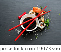 Sushi with soy 19073566