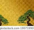 金色折屏和松木 19073990