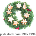 wreath decorated with christmas  cookies 19073996