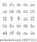 Transport icons Outline Stroke vector 19077221