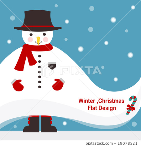 snowman,winter,christmas,candy flat vector 19078521