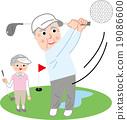 年長 高爾夫球手 高爾夫 19086600