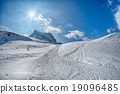 dolomites mountain snow landscape in winter 19096485