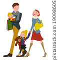 Family in shopping 19098605