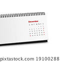 Calendar organizer on white 19100288