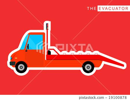 Evacuator truck isolated 19100878