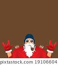 vector biker santa claus with smoking pipe. 19106604