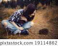 女孩 少女 刺猬 19114862