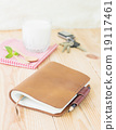 note book leather with milk 19117461