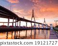 Bhumibol Bridge, The Industrial Ring Road Bridge in Bangkok. Lon 19121727