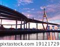 Bhumibol Bridge, The Industrial Ring Road Bridge in Bangkok. Lon 19121729