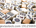 game, tabletop game, mahjong tile 19125669