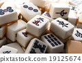 game, tabletop game, mahjong tile 19125674