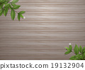 Leafs on wood background vector design 19132904