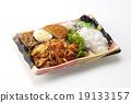 日式便當 進餐 豬 19133157