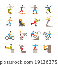 Vector Urban Sport  Icons With People 19136375