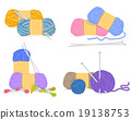 Vector of a yarn,  Knitting Materials 19138753