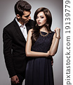 young beautiful flirting  couple in love 19139779