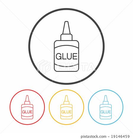 glue line icon 19146459